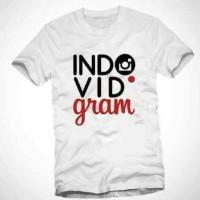 kaos indovidgram instagram/tshirt indovidgram instagram