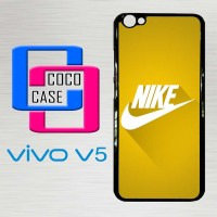Casing Hardcase Hp Vivo V5 Nike Logo Gold Texture X4392
