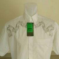 Baju koko / Kemeja Koko Al-Mia putih lengan pendek 2in1 Limited