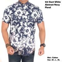 harga baju pria lengan pendek motif abstrak floral batik / kemeja cowok Tokopedia.com