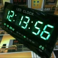 jam digital led hijau dingding type/tipe xy-4622