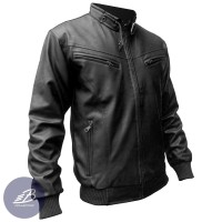 Jaket Semi Kulit Imitasi Vienna Pria Model Ariel Dua / 2 Kantung Dada