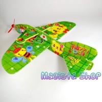 Jual Pesawat Busa Gabus Besar / Flying Glider mainan jadul 90an Murah