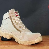 SEPATU MURAH KICKERS SAFETY BOOTS RIDER CRUISE -CREAM-