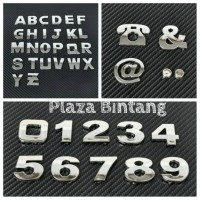 Pesanan Huruf Angka / Simbol Telepon / Nomor / Nama Toko / Nama Usaha