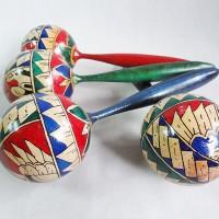 harga Tradisional Alat Musik Marakas painted Maracas full wood round marakas Tokopedia.com