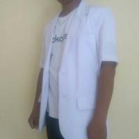 Jas Dokter Pria Lengan Pendek