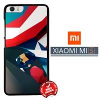 Captain America Comic Wallpaper X1676 Xiaomi Mi5 / Mi 5 Casing Premiu