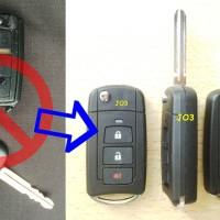 Casing Kunci Lipat Flip Key Toyota Avanza Veloz 3Tombol