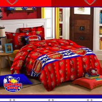 Bed Cover Set Arsenal, 100x200, Bedcover Sprei Katun Klub Bola, SA17