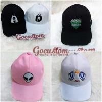 Jual Topi Baseball Custom / Topi Tumblr Custom Bordir satuan suka-suka Murah