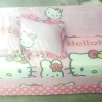 sofabed sofa bed kursi hello helo kitty kity pink putih besar bandung