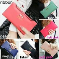 Jual Ribbon Wallet wanita import fashion korea murah lucu dompet kartu Murah