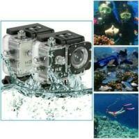 Jual Action camera 4K UltraHD 16Mp 60Fps Wide Lens 30m underwater Murah