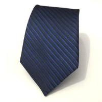 Dasi Fashion Slim Salur Hitam Biru - SLim Tie Blue