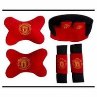 Jual Ready Bantal Mobil MU Manchester United - Bantal Mobil 3in1 Murah