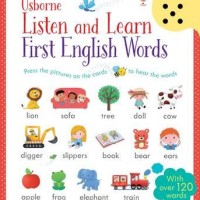 USBORNE Listen and Learn First English Words - Sound Book