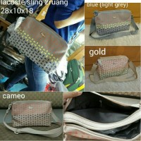 tas lacoste sling ombre 2 ruang