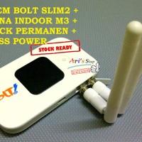 MODEM WIFI MIFI 4G BOLT SLIM2 SLIM 2 E5577 UNLOCK GSM + ANTENA M3