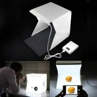 Jual Mini Portabel Fotografi Studio Cahaya Tenda Box Kit dengan LED Murah