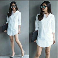 Pakaian Wanita Kemeja Shinta White