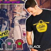 Pakaian branded desain Vespa Garage