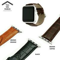 Jual 42mm Apple Watch iWatch Tali Jam Kulit Leather Strap Band Buckle Murah