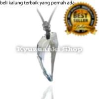 kalung kaca dari korea warna bening untuk pria dan wanita