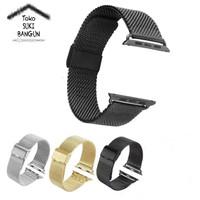 42mm Apple Watch iWatch Tali Jam Rantai Mesh Stainless Steel Strap