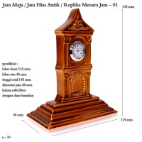 Jam meja / jam hias antik / replika menara jam / jam mini 01