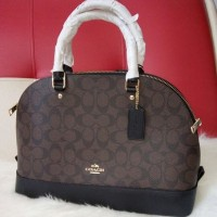 Coach bag Sierra sign sign darkbrown Tas Tangan Branded Original Mura