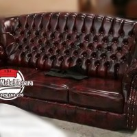SOFA MEWAH MINIMALIS 3 SEATER BROWN