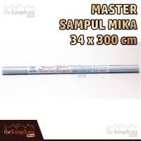 Master Sampul Mika Emboss 34x300cm / 34 x 300 cm / Buku / Plastik