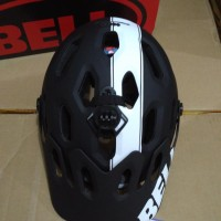helm Bell Super 2 MAT BLACK White