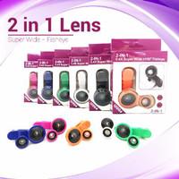 Superwide 2in1 lens (superwide + Fisheye) Jepit Panjang Dus Ungu U004x