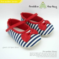 Sepatu Bayi - Baby Shoes | Freddie the Frog | Gwen Stripes Blue
