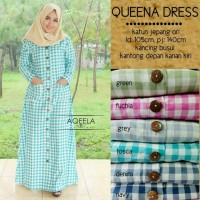 GAMIS TARTAN KATUN JEPANG IMPORT / QUEENA DRESS BY AQEELA