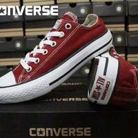 EXCLUSIVE sepatu converse all star low grade ori merah marun TERLAR