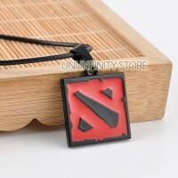 JWNE0091Black Kalung Game Dota 2 Pria Wanita (Black Square Necklace)