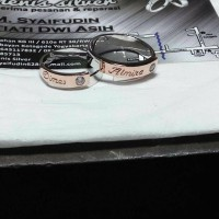 cincin kawin nikah tunangan couple perak lapis rhodium (emas putih)