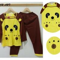 STLN461 - Setelan Panjang Panda Yellow Brown Aplikasi