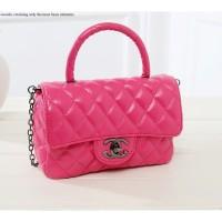 Tas Chanel Kulit Pink Rose Selempang Elegan Import Wanita Sling Bag