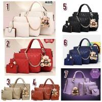 Jual Tas Wanita Fashion Import Set (4in1) Best Seller Murah