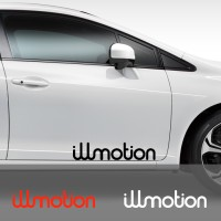 Cutting Sticker Mobil JDM illmotion Stiker Body Kaca 60 cm