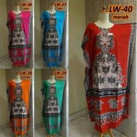 Jual Daster lowo/kelelawar/kalong kencana ayu baju tidur santai dress batik Murah