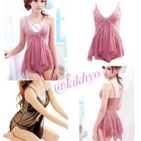 Sexy Lingerie Babydoll Dress Sleepwear G-string / Baju Tidur #10