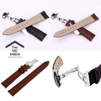 18mm Tali Jam Motif Kulit Watch Strap Leather Model Slot