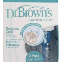 Dr. Brown's Natuarl Flow Glass Baby Bottle 120ml - 2 pack