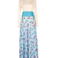 Model Busana Baju Muslim Maxi Gamis Dress Pesta Batik Terbaru HENK0049
