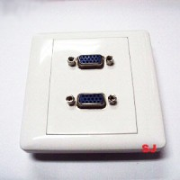 Faceplate VGA Double Outlet Socket Non Solder